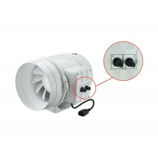 Vents TT 125mm (220 / 280cbm) mit Drehzahlregler und Thermostat