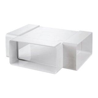 Flachkanal T-Stück PVC 110x55mm