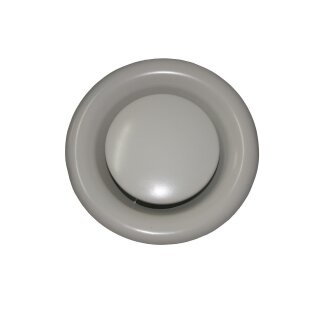 Tellerventil Metall weiß Abluft 125mm