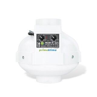 Prima Klima Rohrventilator Temperatur- und Drehzahl gesteuert 280cbm / 100mm