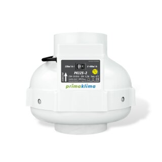 Prima Klima Rohrventilator 2-Stufen 220-400cbm / 125mm