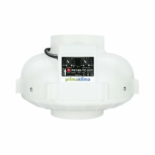 Prima Klima Rohrventilator Temperatur- und Drehzahl gesteuert 800cbm / 160mm