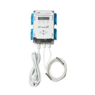 GSE digitaler Klimacontroller für Temperatur und Luftfeuchte Zu- Abluft 16 A 4 Ausgänge